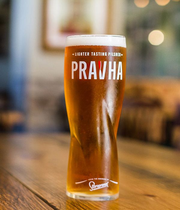 Pravha was created by the legendary brewers of Staropramen, who were inspired to create a lighter tasting pilsner. This meant it was born with a renowned status for high quality brewing, with the iconic flavour and gentle bitterness of a pilsner inspired by Prague. The result? An unexpectedly crisp, light and refreshing taste. Quite a head start really.